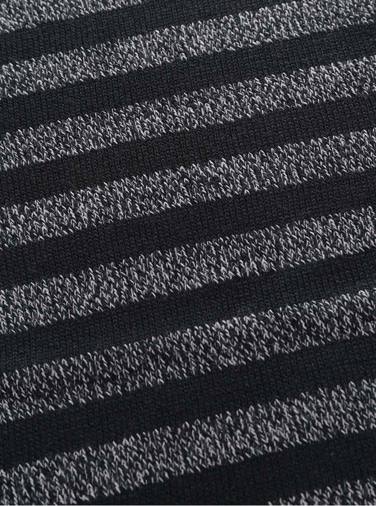 Černo-šedá pruhovaná šála Selected Homme Nethan