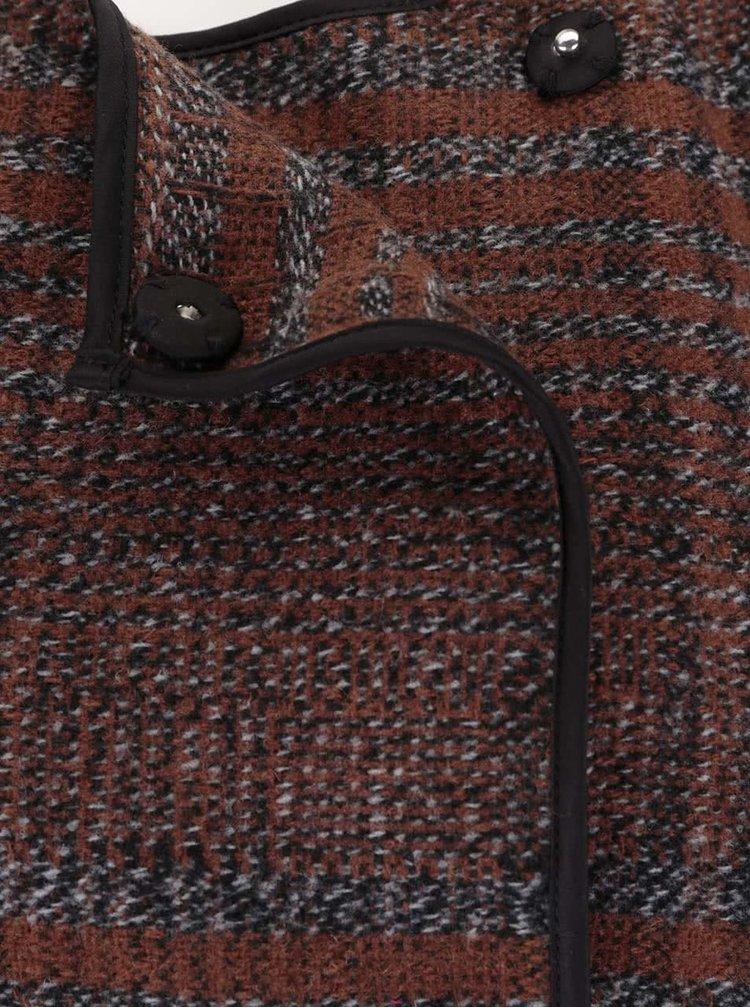 Hnedý kockovaný blejzer VERO MODA Tiffany