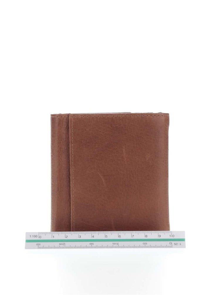 Světle hnědá pánská kožená peněženka Lucleon California
