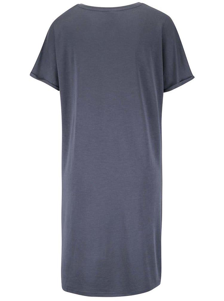 Sivomodré voľné šaty s vreckami VERO MODA Elliot