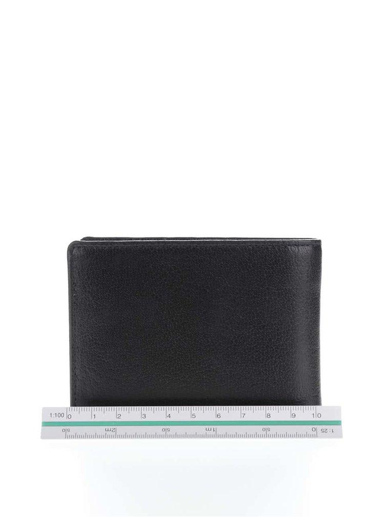 Čierna pánska kožená peňaženka Lucleon California