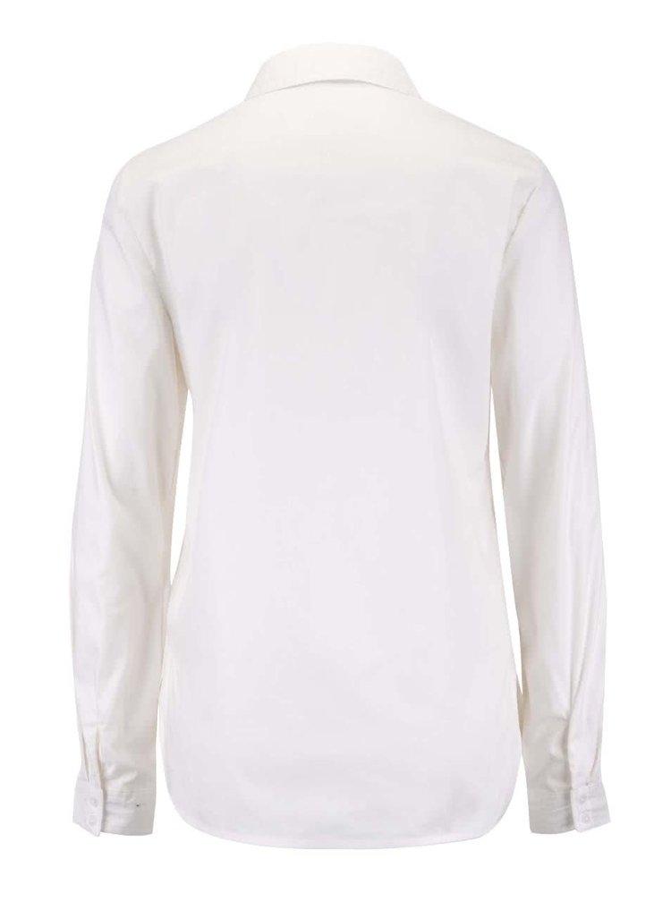 Krémová košile s dlouhým rukávem VERO MODA Metto