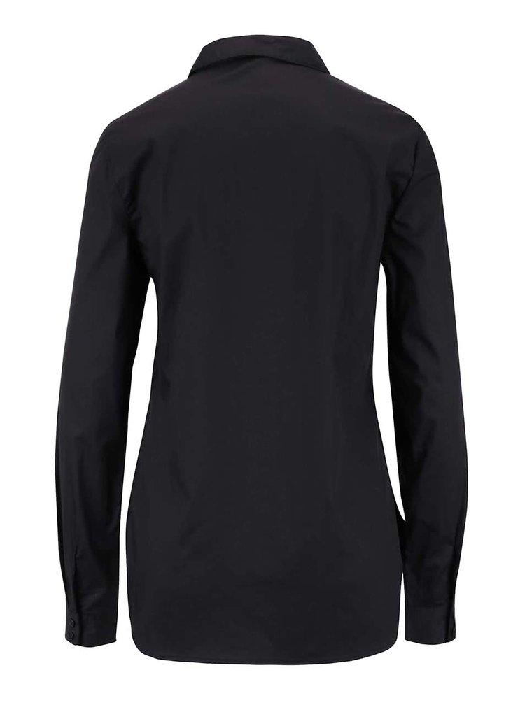 Čierna košeľa s dlhým rukávom VERO MODA Metto