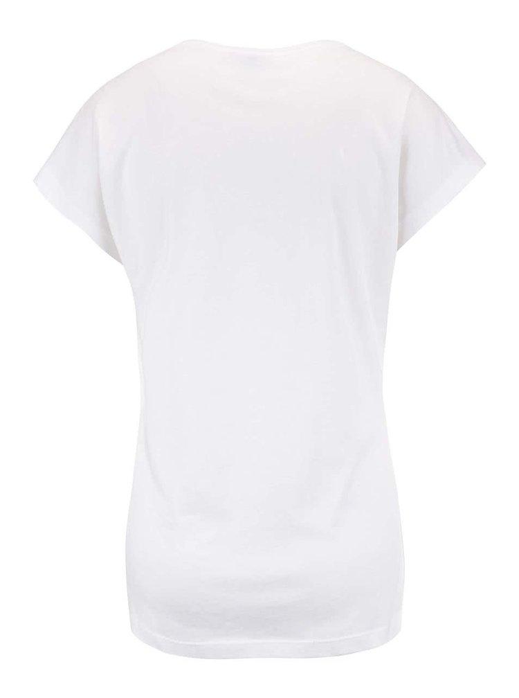 Krémové tričko s potiskem VERO MODA Bella