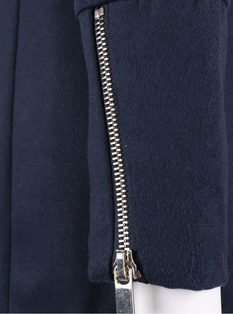 Jacheta lunga VERO MODA Veraliga albastru inchis