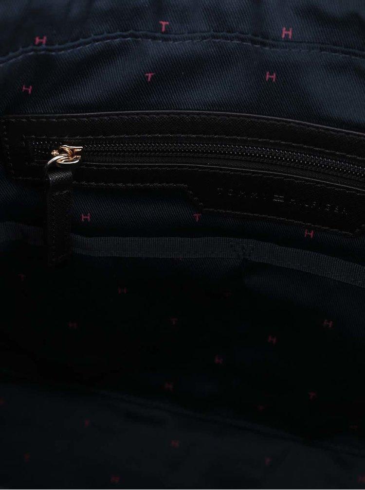 Černá obdélníková kabelka s odepínatelným popruhem Tommy Hilfiger