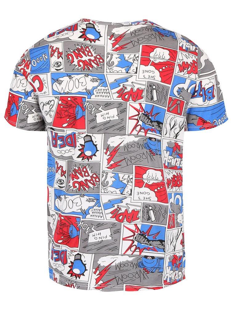 Krémové pánske tričko s motívom komixu ZOOT