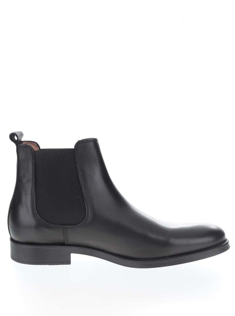 Černé pánské kožené chelsea boty Selected Homme Oliver