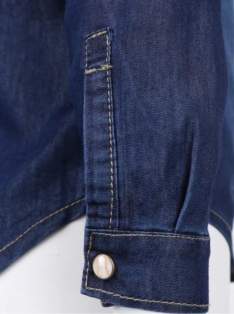 Tmavě modrá džínová holčičí košile name it Cha