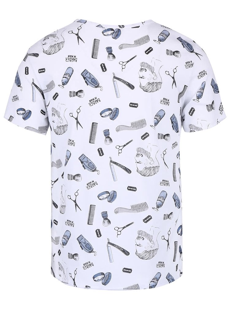 Světle modré pánské triko s potiskem ZOOT
