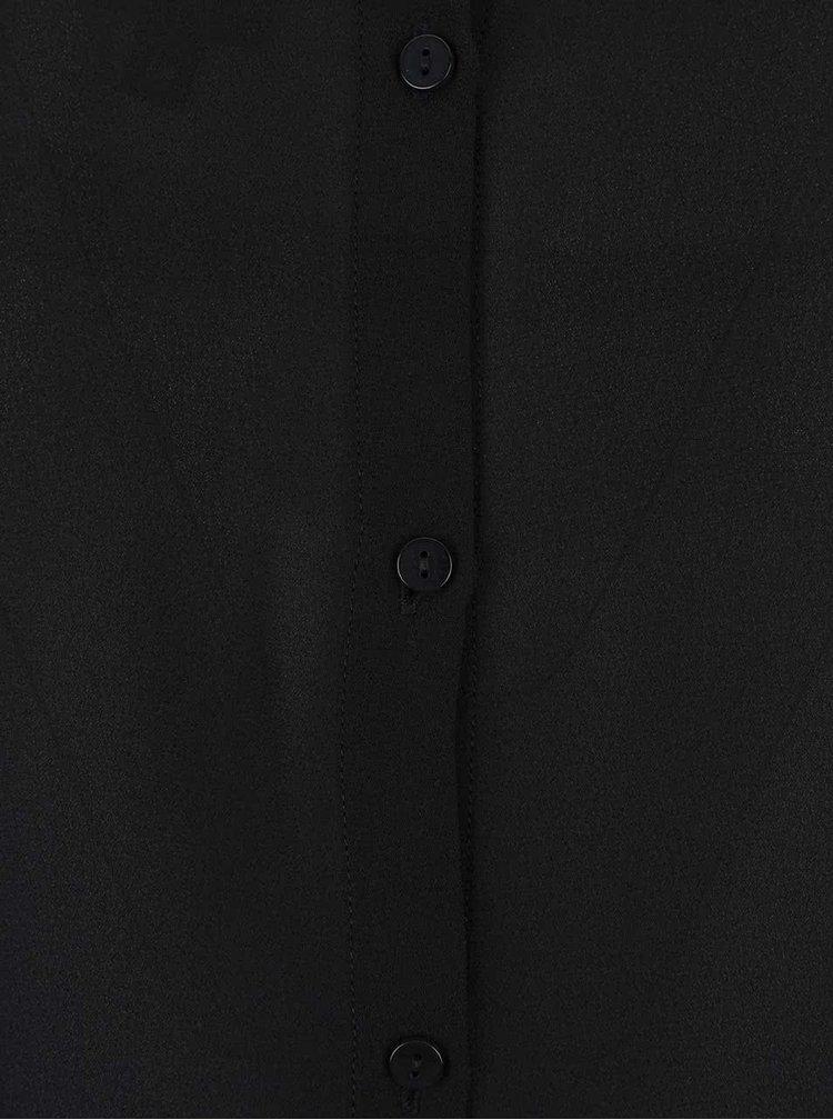Čierny dámsky ľahký sveter so šifónovou zadnou stranou Bench
