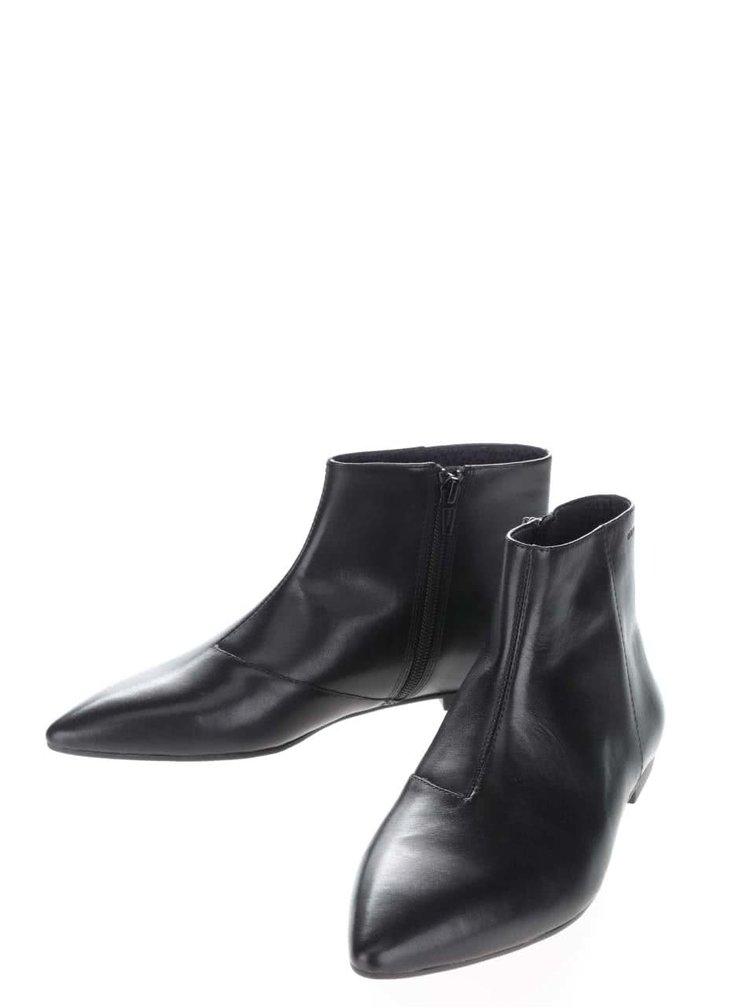 Černé dámské kožené kotníkové boty Vagabond Katlin
