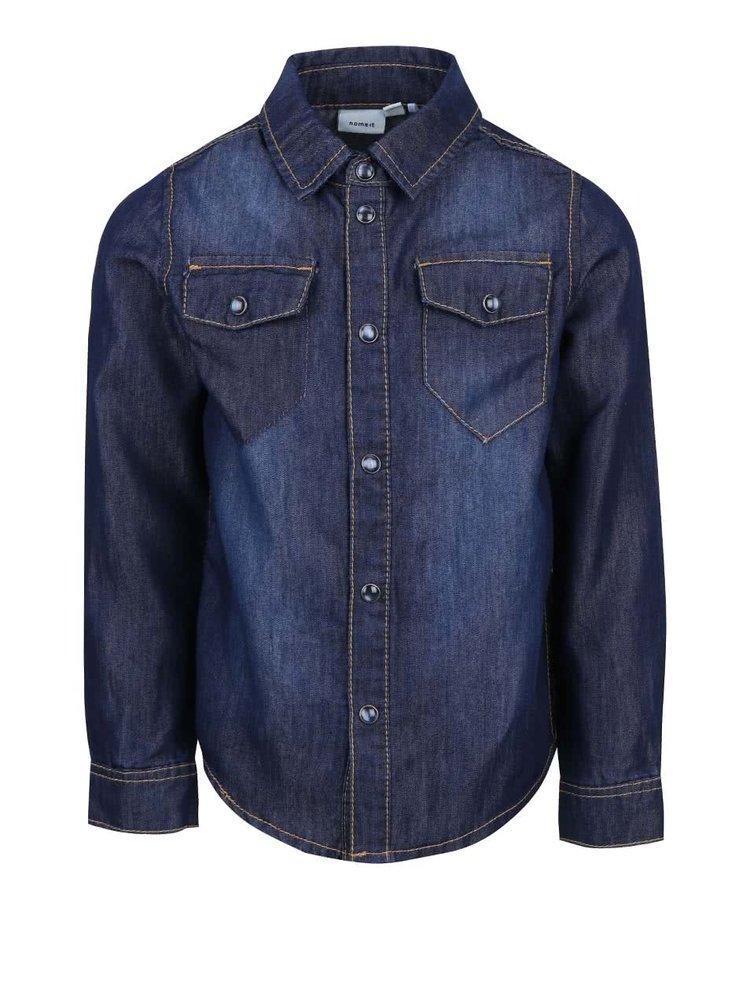 Tmavě modrá džínová klučičí košile name it Can