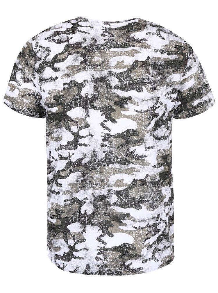 Tricou alb ZOOT cu imprimeu camuflaj