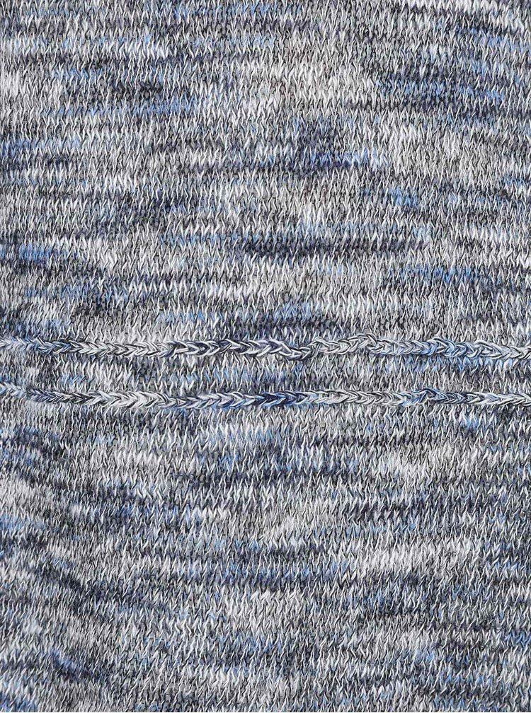 Modro-sivý žíhaný kardigán s 3/4 rukávmi ONLY Haxby