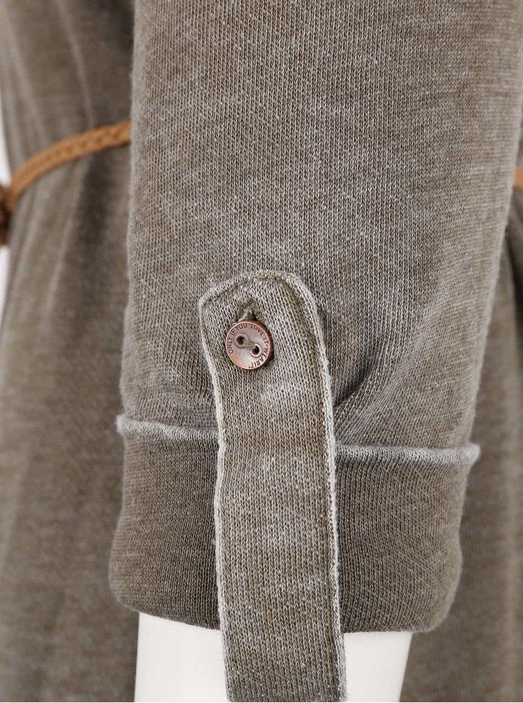 Khaki šaty s páskem ONLY Sienna