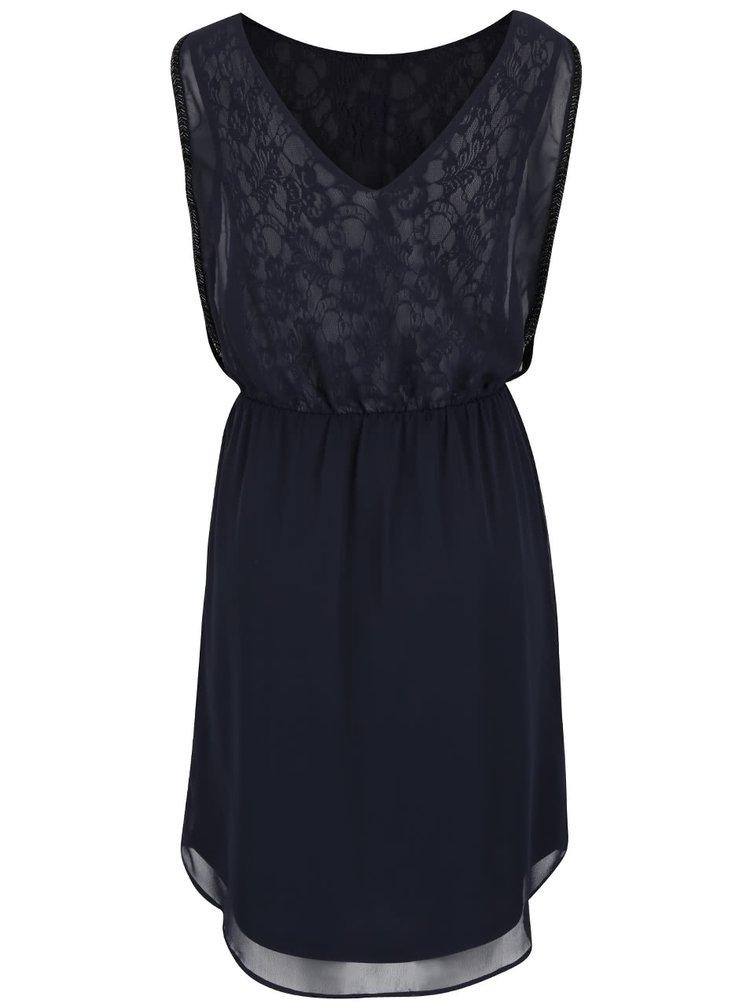 Tmavě modré krajkované šaty ONLY New Hiro