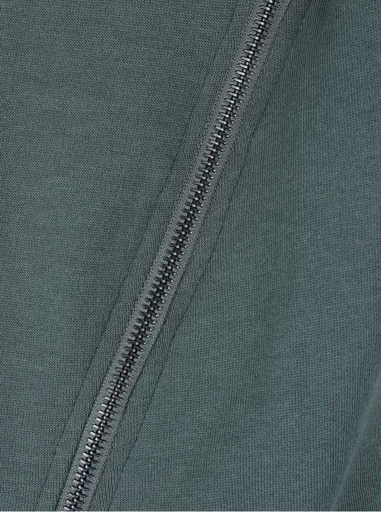 Zelená mikina s postranními zipy ONLY Whipper