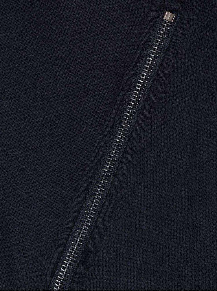 Tmavomodrá mikina s bočnými zipsami ONLY Whipper