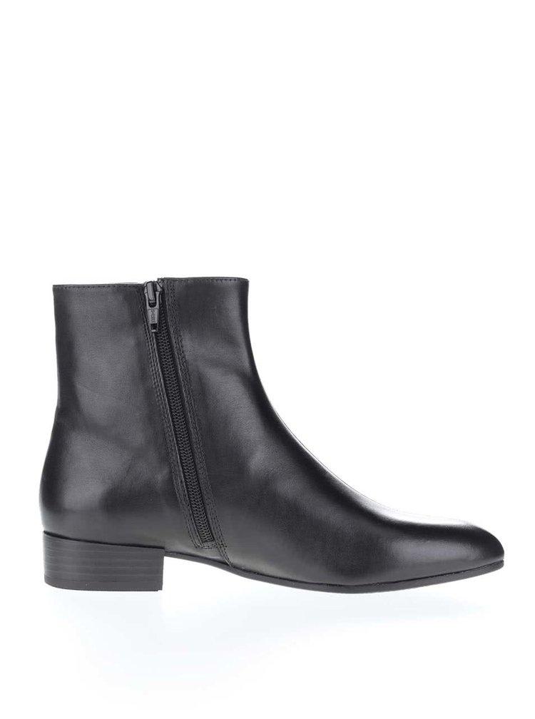 Černé dámské kožené kotníkové boty Vagabond Gigi