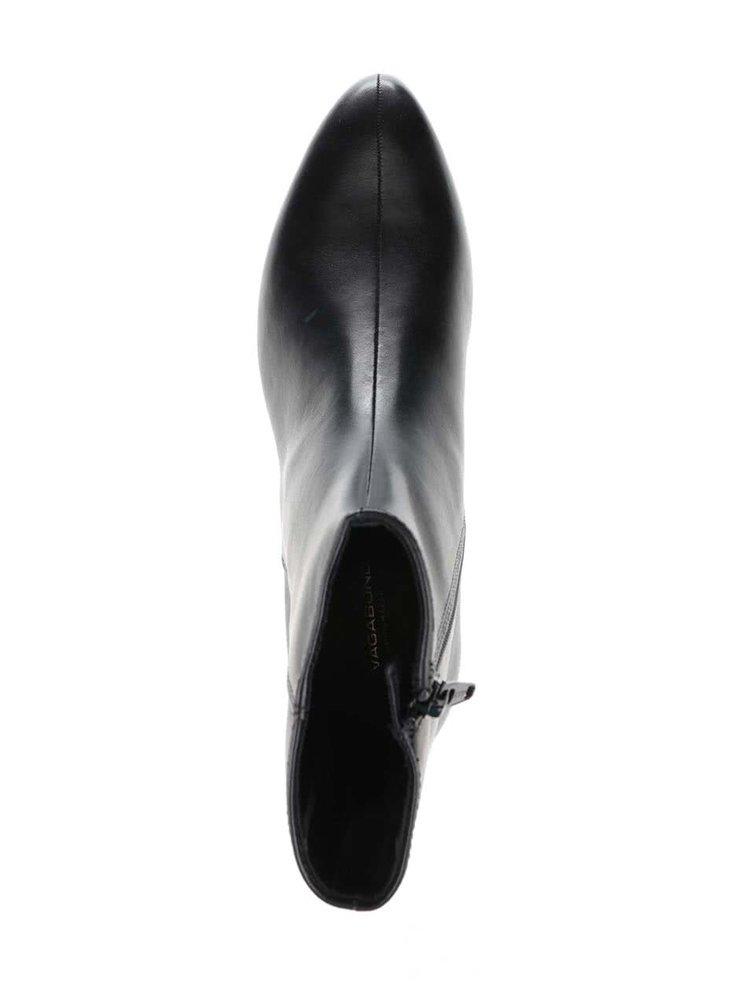 Čierne dámske kožené členkové topánky Vagabond Gigi