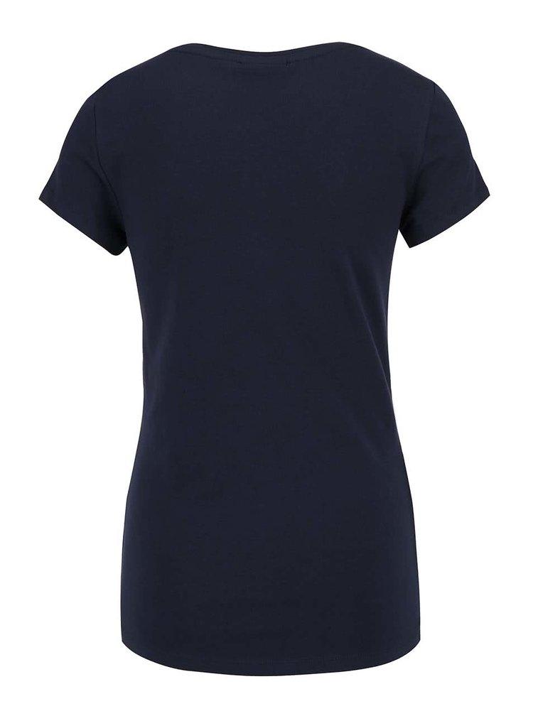 Tricou albastru ONLY Helene cu print