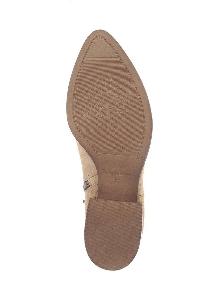 Béžové dámske semišové členkové topánky Vagabond Marja