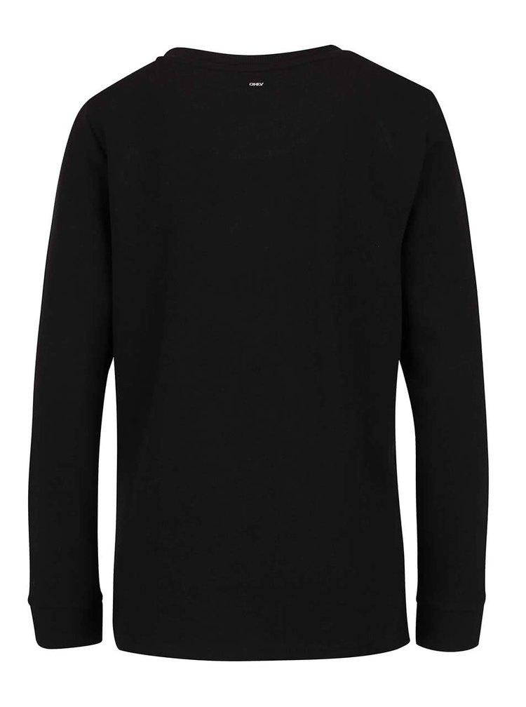 Bluză neagră ONLY Micka cu print