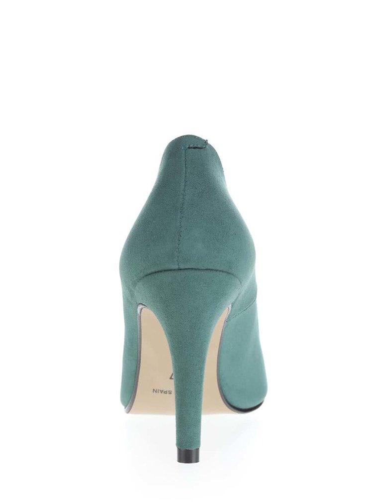 Pantofi cu toc OJJU verde inchis