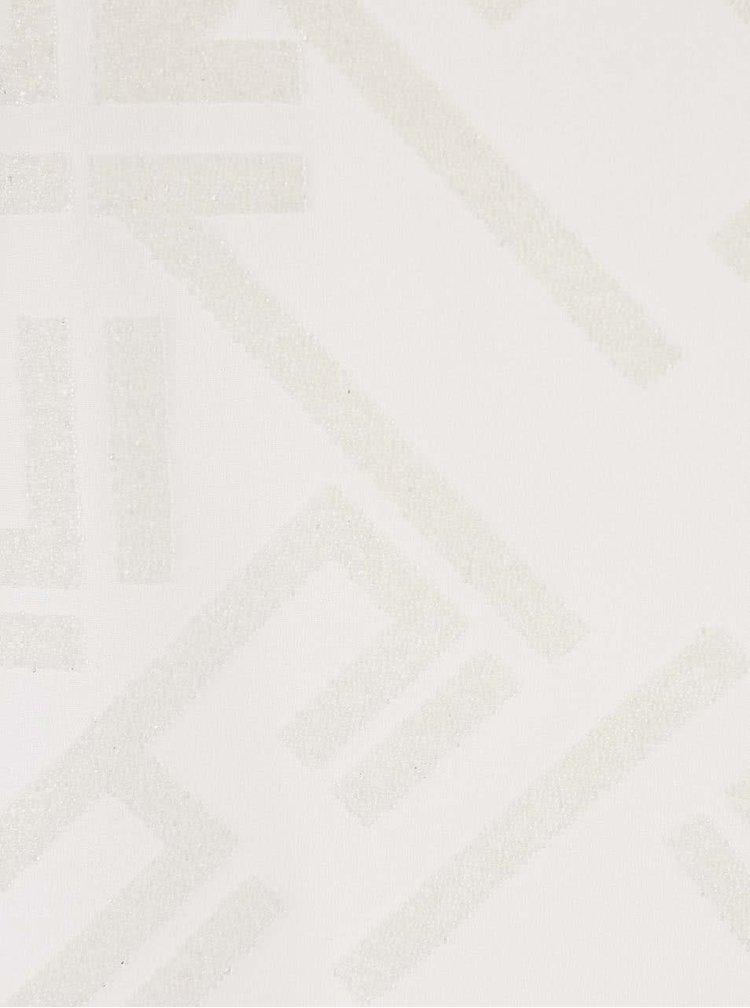 Krémové tričko bez rukávů s třpytivým potiskem ONLY Mynte