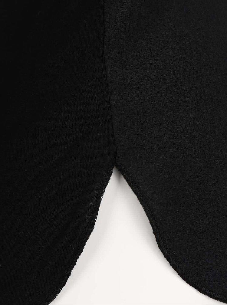 Top negru ONLY Mynte cu print