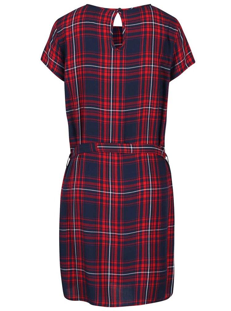 Červené kárované šaty ONLY June
