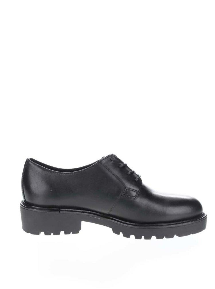Pantofi negri cu siret  Vagabond Kenova din piele