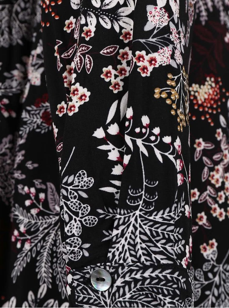 Černá květovaná tunika ONLY Nova Vintage