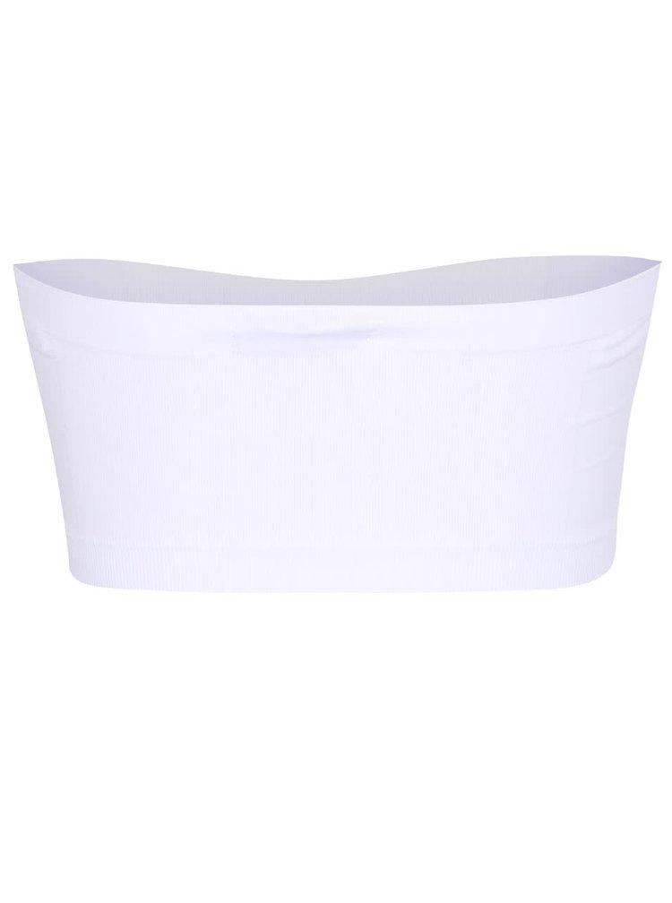 Bílá elastická podprsenka bez ramínek TALLY WEiJL