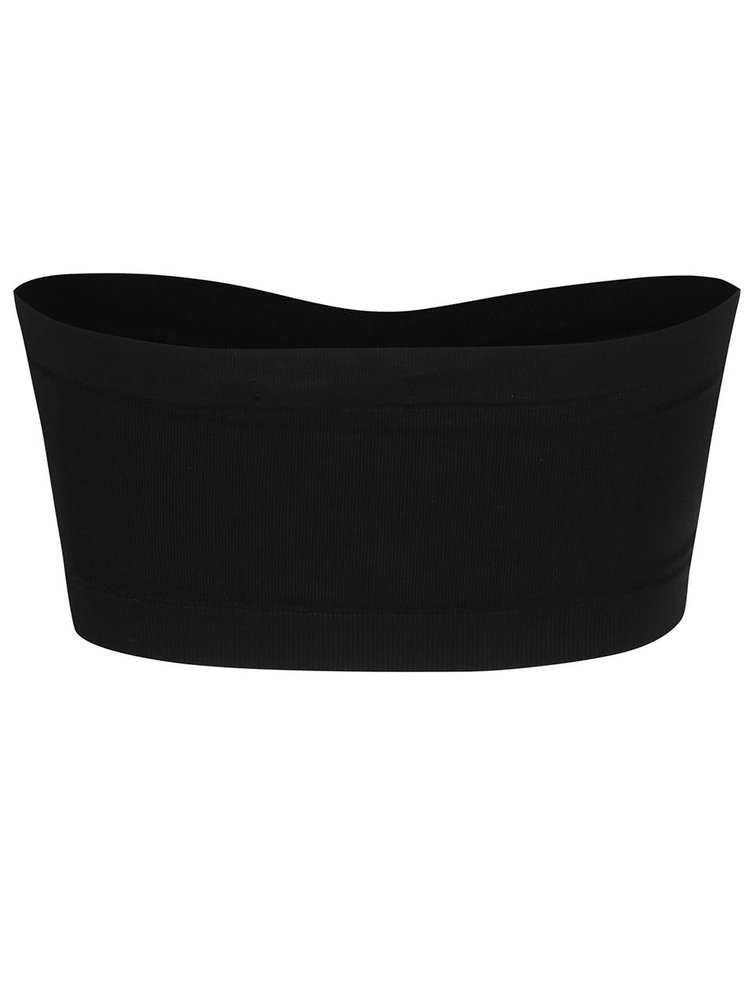 Čierna elastická podprsenka bez ramienok TALLY WEiJL