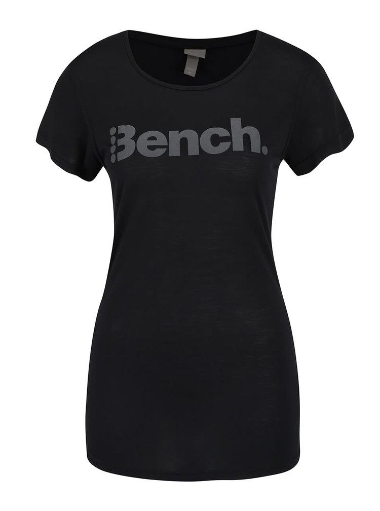 Čierne dámske tričko s potlačou Bench