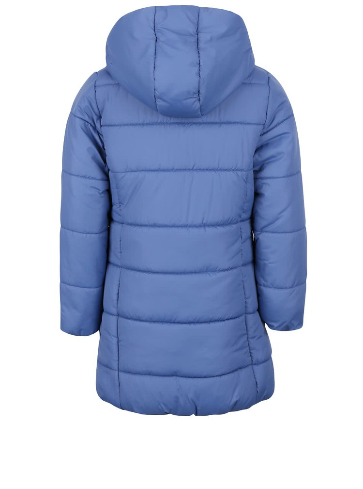 Modrý holčičí prošívaný kabát s asymetrickým zipem 5.10.15.