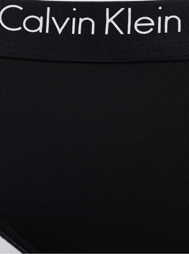 Černá tanga Calvin Klein