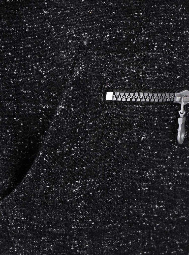Čierna žíhaná chlapčenská mikina na zips s kapucňou 5.10.15.