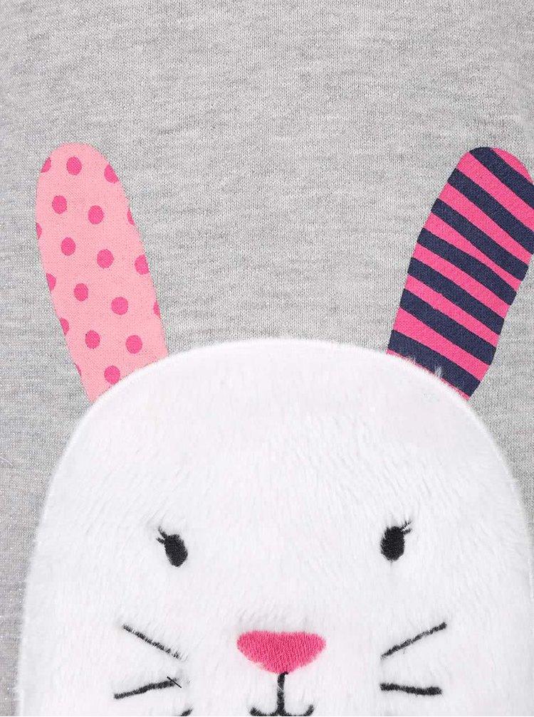 Svetlosivá dievčenská mikina s motívom králika 5.10.15.