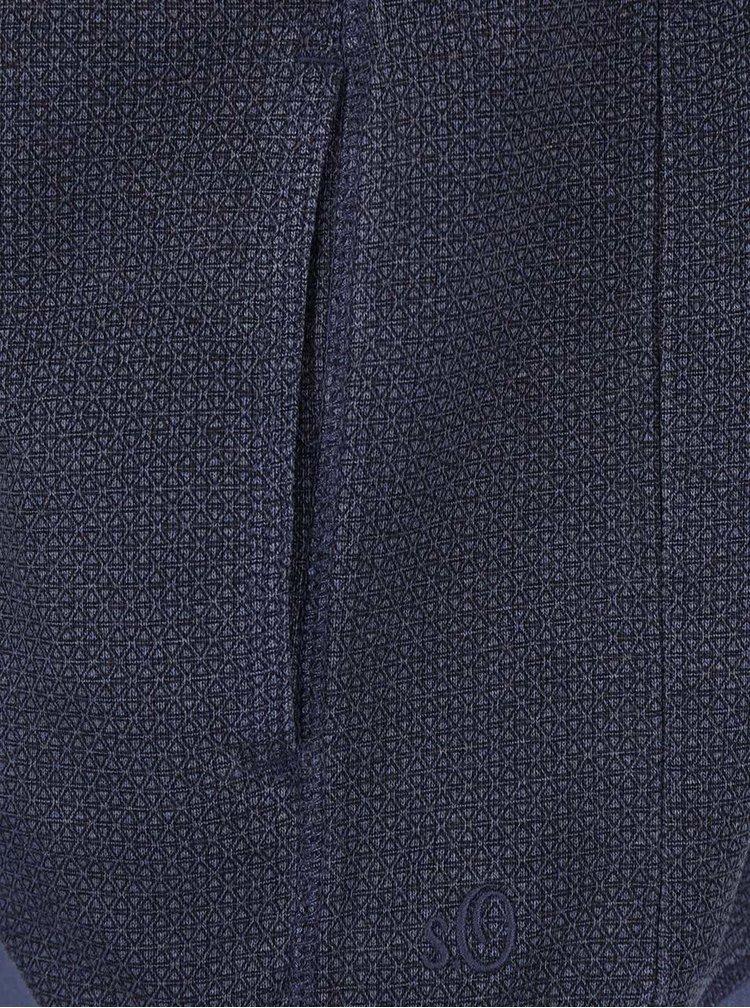 Bluză albastră s.Oliver din bumbac pentru bărbați