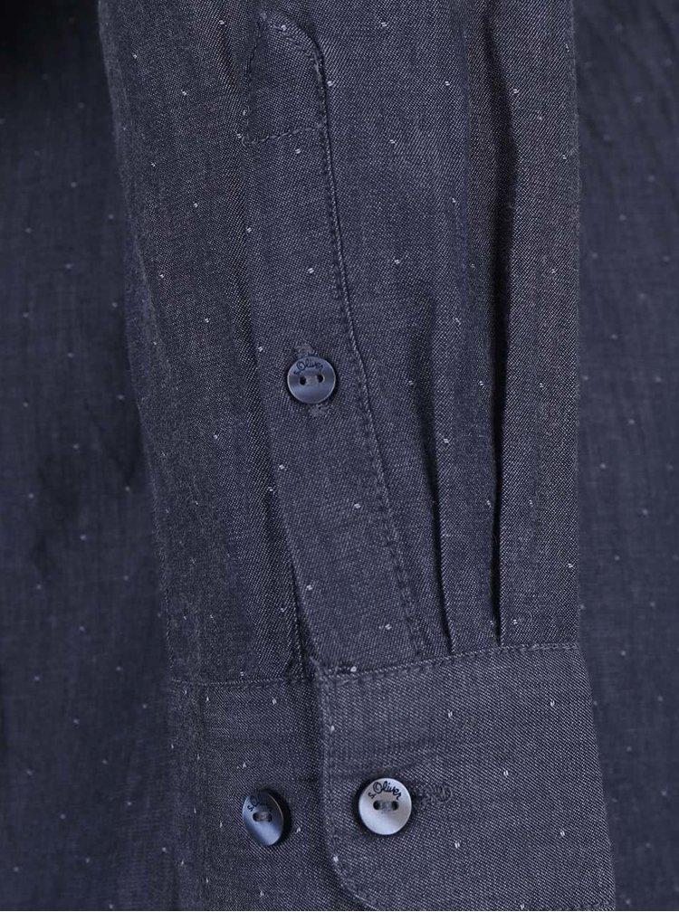 Camasa bleumarin s.Oliver cu model discret pentru femei