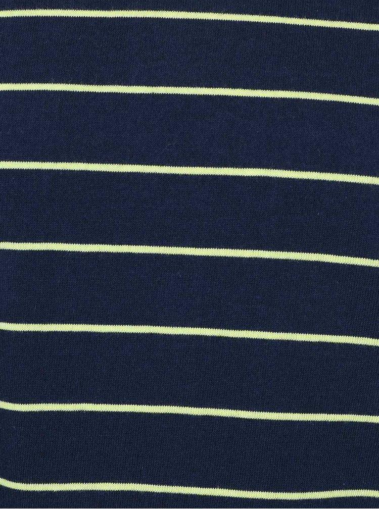 Tmavě modré klučičí pruhované triko s dlouhým rukávem 5.10.15.