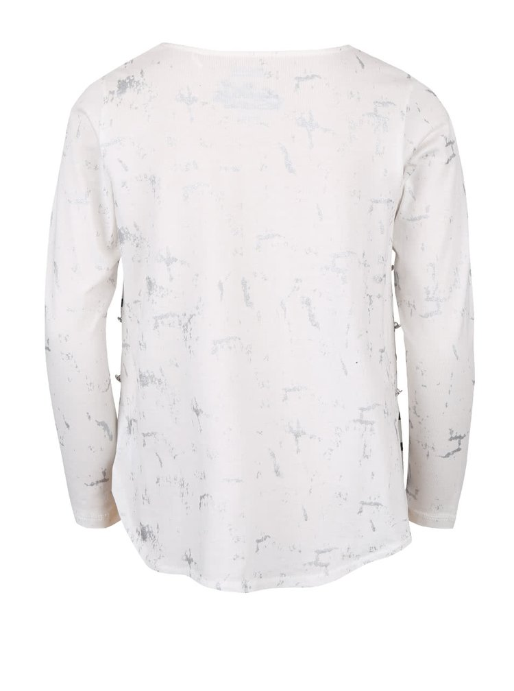 Bluză crem cu dungi 5.10.15. de fete