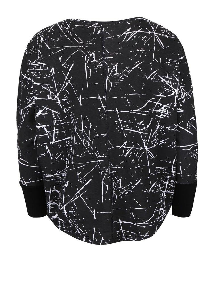 Černé holčičí vzorované oversize tričko s dlouhým rukávem 5.10.15.