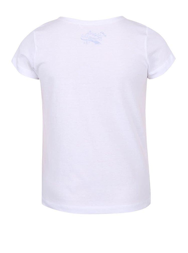 Bílé holčičí tričko s krémovým vzorem 5.10.15.