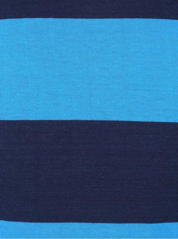 Modré pruhované klučičí triko s dlouhým rukávem 5.10.15.