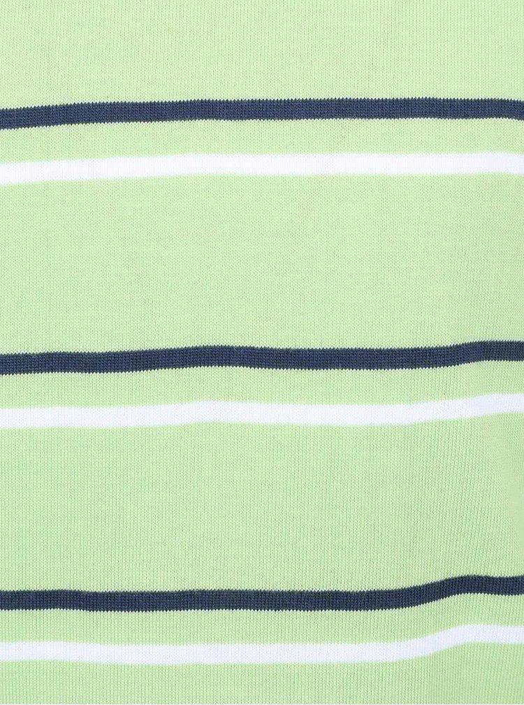 Bluză verde deschis din bumbac 5.10.15. cu model în dungi