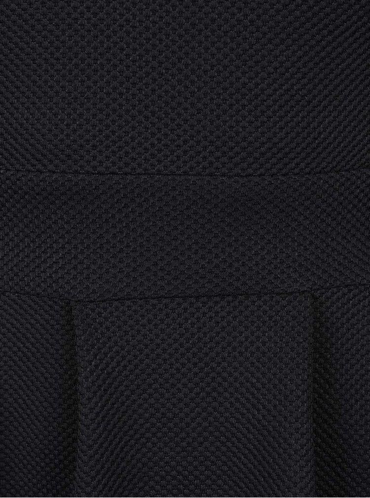 Černé vzorované šaty s ozdobným výstřihem Mela London
